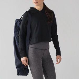 Lululemon Cut Above Cropped Hoody Pullover Black